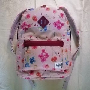 Herschel pale pink with flowers backpack